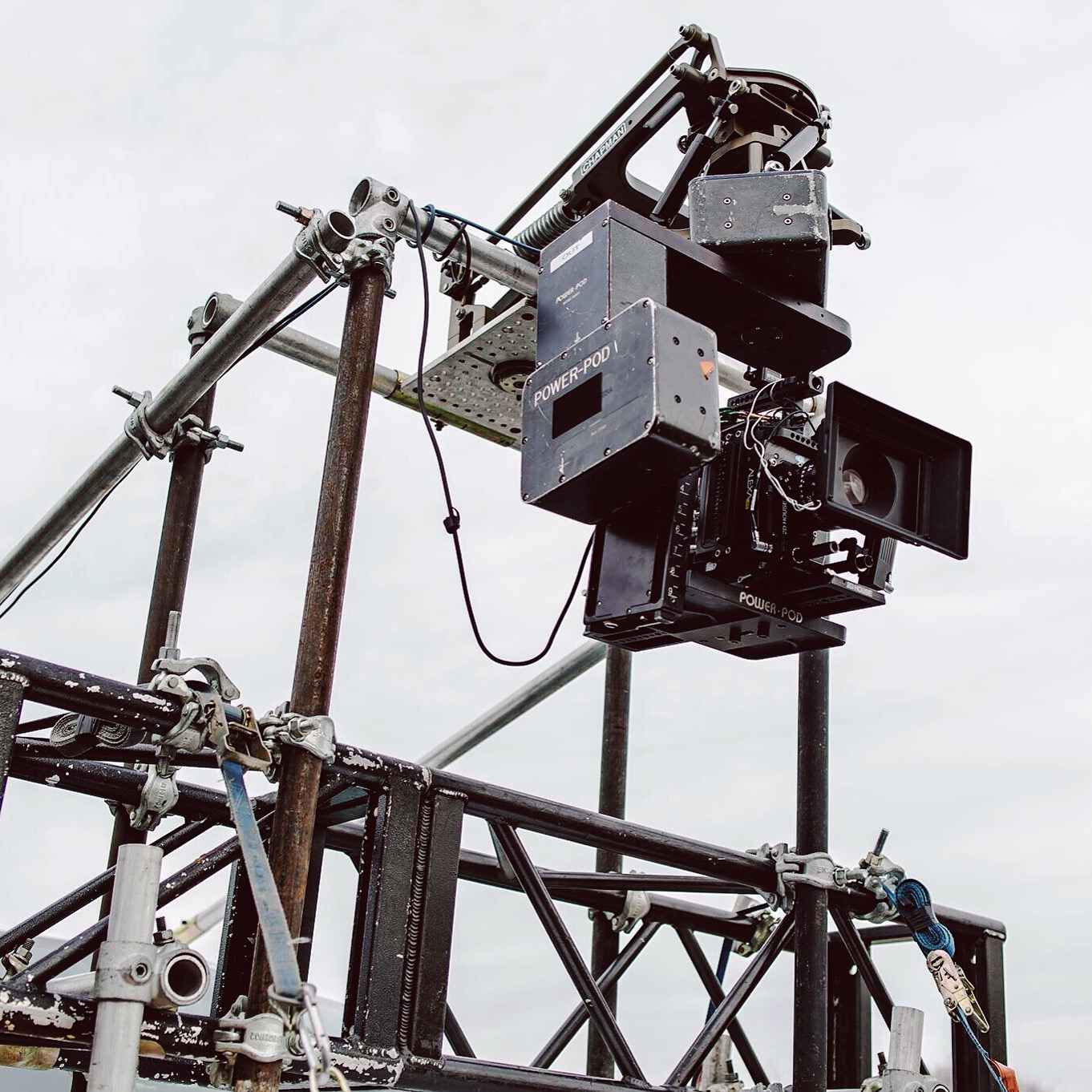 Arri Mini mounted on a Power Pod