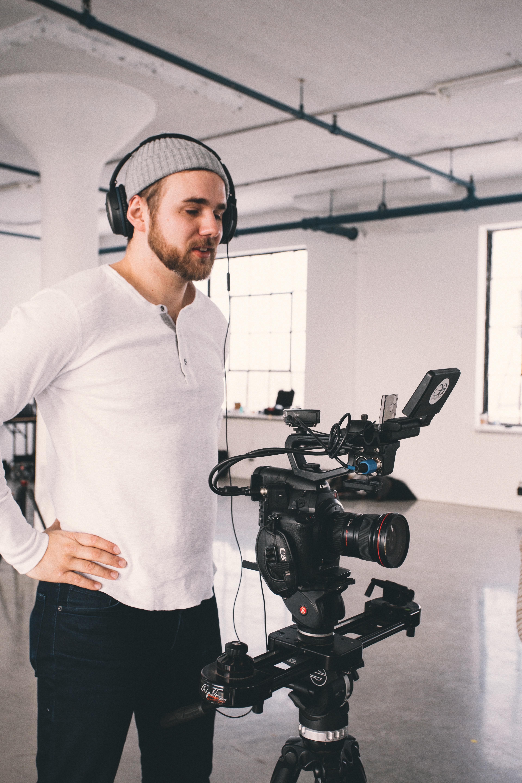 Alexander Marshall on set with Borealis AI